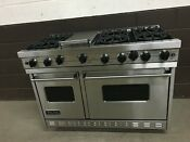 Viking Vgic485 6gss 48 Pro Gas Range Oven 6 Burners Griddle Stainless 5