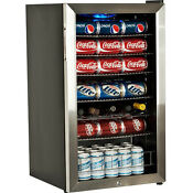 Stainless Steel Beverage Refrigerator Compact Drink Wine Cooler Mini Fridge