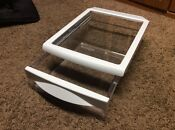 Ge Side By Side Refrigerator Shelf White With Glass Top 200d1854p002 Used Nice