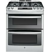 Ge Profile 30 Slide In Double Oven Stainless Steel Gas Range Brand New
