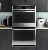 Ge Profile 30 Double Convection Stainless Steel Wall Oven Brand New