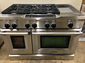 Kitchenaid Kdrs483vss03 48 Pro Dual Fuel Range Stove 6 Burners Griddle