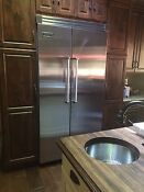 Viking Refrigerator 42 Stainless Steel Great Condition