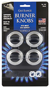 Stanco 4 Pack Universal Gas Range Stove Knobs Black