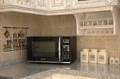 Emerson 1100w Touch Control Stainless Steel Microwave Oven With Grill
