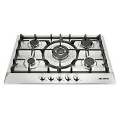 30 Stainless Steel 5 Burner Built In Stoves Ng Lpg Gas Cooktop Cooker