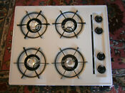 Brown Stove Works Gas Or Lp Cooktop Appliance Wtl03 3 White 4 Burner 24 New
