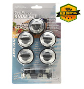 5pk Aqua Plumb Rkg Gas Range Stove Knob Set Replacement For Cooking Appliances