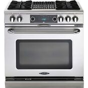 Capital Connoisseurian Series 36 Dual Fuel Range 4 Burners With Grill Cob362b2n