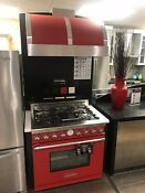 Technogas 36 Red Dual Fuel Range Matching Vent Hood