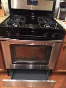 Whirlpool Silver Black Stainless Steel Gas Range