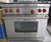 Wolf Df364g 36 Pro Style Dual Fuel Range 4 Burners With Griddle