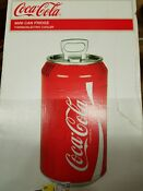 Compact Coca Cola Can Refrigerator Mini Countertop Car Coke Soda Gift Fridge