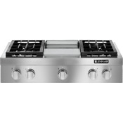 Jenn Air Jgcp536wp 36 Pro Style Rangetop Cooktop W Griddle Stainless Nat Gas