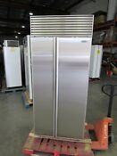 Sub Zero 36 W Perfect Stainless Side By Side Built In Refrigerator Refurbished