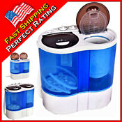 Compact Portable Washing Machine Washer And Dryer Laundry Wash Dry Spinner Timer