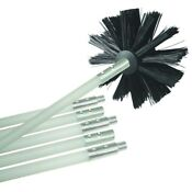 Dryer Air Duct Vent Cleaning Brush Head Flexible Rod Kit Lint Ducting Cleaner