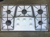 Used Kitchenaid 36 Gas Cooktop Kgcc566hwh2