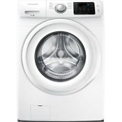 4 2 Cu Ft High Efficiency Front Load Washer In White Energy Star Samsung