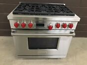 Wolf Df366 36 Professional Dual Fuel Range Stove 6 Burners