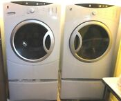 C Ge Front Load Dryer Free Matching Washer On Pedestal Drawers
