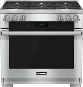 Miele M Touch Series Hr1934df 36 Inch Pro Style Dual Fuel Range 6 Burners