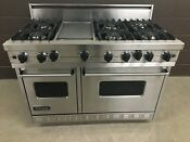Viking 48 Pro Range Stove Vgic4876gss Gas 6 Burners Griddle Vent Hood