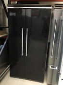 Viking Vcsb5421bk 42 Refrigerator Freezer Quiet Cool Side By Side Black