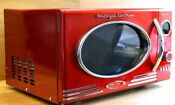 Red Kitchen Microwave Oven Nostalgia Retro Series 0 9 Cubic Feet