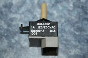 Whirlpool Kenmore Washer Selector Switch 3348352 Used