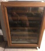 Sub Zero 424 Undercounter Wine Cooler Not Working For Parts Or Repair