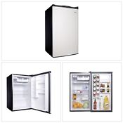 Refrigerator Compact Mini Dorm Room Office College 4 5 Cu Ft Virtual Steel New