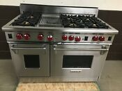 Wolf 48 Professional All Gas Range Stove 6 Burner Grill