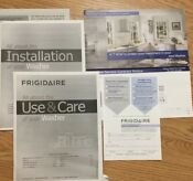 Frigidaire Washer Use Care User Manual New Product Registration Installation