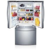 30 In W 21 8 Cu Ft French Door Refrigerator In Stainless Steel