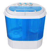 9 9lbs Mini Lightweight Washer Twin Tub Washing Machine For Camping Dorms W Hose
