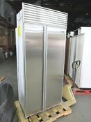 Sub Zero 36 Stainless Side By Side Built In Refrigerator With Perfect Doors