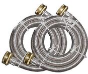 6 Braided Stainless Steel Washing Machine Fill Hose Set By Frigidaire New