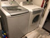Whirlpool Cabrio Top Load Washer And Front Load Dryer Set White Used