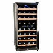 Koldfront 32 Bottle 16 Free Standing Wine Cooler Dual Zone Right Swing