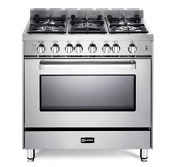 Verona Vefsgg365nss 36 Freestanding Natural Gas Range W Convection Oven