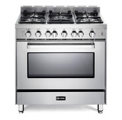 Verona 36 Freestanding Natural Gas Range W Round Handle Vefsgg365nss H