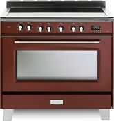 Verona Classic Vclfsee365r 36 Electric Range 5 Elements Single Oven Gloss Red