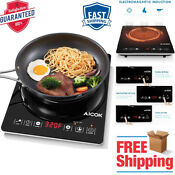 Induction Cooker Electric Cooktop Burner Portable 1800w Led Sensor Counter Down