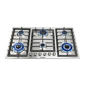 Metawell 34 Stainless Steel Built In 6 Burners Cooktop Ng Lpg Gas Hob Cooker
