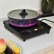 Portable 1 Burner Electric Induction Countertop Cooker Hot Plate