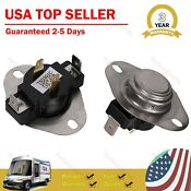 2 Pcs Dryer Thermostat Replacement Parts Fit For Whirlpool Kenmore 3387134 Us