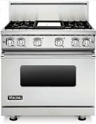 Viking Professional 7 Series Vgr73614gss 36 Inch Gas Range Convection 4 Burners