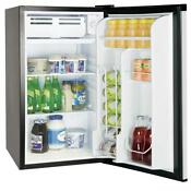 3 2 Cu Ft Stainless Steel Mini Refrigerator Fridge Freezer Compact Ice Cube Cham
