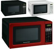 Digital Countertop Microwave Oven Red Black White